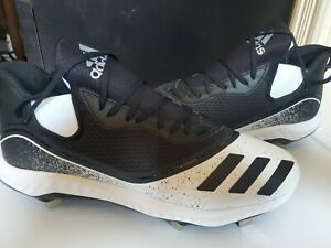 Adidas Icon V Bounce Low Metal Mens Baseball Cleats - SIZE 13 COLOR BLK/WHT NWT