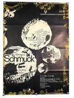 """Ausstellungs Plakat """"Schmuck"""" Fischer Nosbisch '64 Künstler Poster 60er Jahre"""