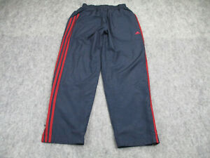 Adidas Pants Men's Small Blue Red Striped Sweatpants Windbreaker Adult Active