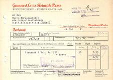 Rechnung, Grunow & Co., Inh. Heinrich Hesse, Formular-Verlag, Magdeburg, 1944