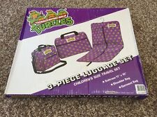 Vintage 1989 Teenage Mutant Ninja Turtles 3-apiece Luggage Set  TMNT RARE!