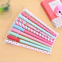 10 Pcs /Set Multi Colors Colorful Gel Ink Pen Cute Korean Cartoon-Pin-Type K0Q2