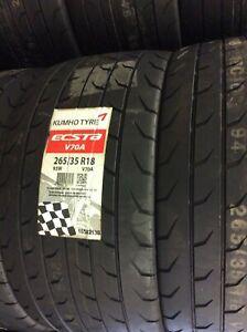 4 x Kumho Tyres 265 35 18 V70A RACE TYRES