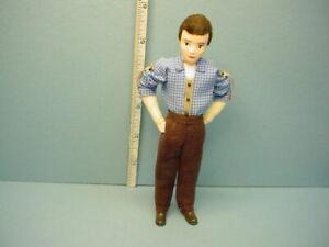 "Miniature Young Man ""Steffen"" #10809 Dollhouse Doll Handcrafted Erna Meyer"