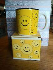 Burton & Burton Retro Hippie Smiley Face Coffee Mug Cup New In Box