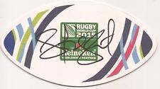 Australia Rugby: Henry Speight firmado Copa del Mundo 2015 Estera De Cerveza + certificado De Autenticidad * Canguros *