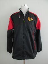 Reebok NHL Chicago BlackHawks Mens Size L Center Ice Kinetic Fit Zip Jacket