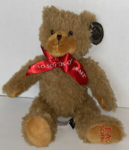 "NEW FAO Schwarz 12"" Anniversary Classic Bear Toy Plush"