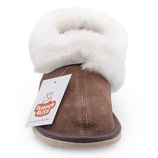 100 Sheepskin Slippers for Men Wool Insole Rubber Sole Best Quality on EBAY UK 6 EU 40