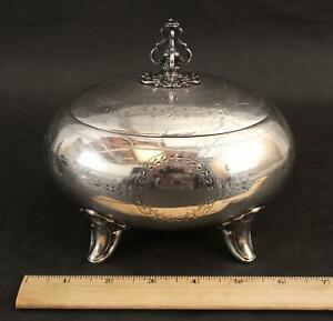 19thC Antique 800 Chased Silver, Gold Lined Tea Caddy Box NO RESERVE!