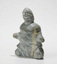Inuit Eskimo art carving Tuna Iquliq (Baker Lake) sitting woman