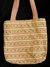Handmade Quality Pink Cream Red floral Fabric reversible Tote Shopping Bag  New