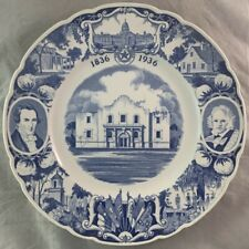 Wedgewood 1936 Texas Centennial Plate The Alamo Dar Chapter Fort Worth
