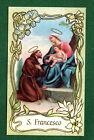 SANTINO SAN FRANCESCO IMAGE PIEUSE - HOLY CARD SANTINI
