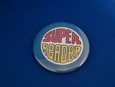 """Super Reader"" Lot of 3 Buttons pins pinbacks 2 1/4"" badge award School Student"