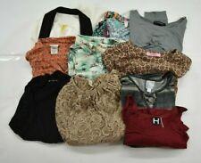 Wholesale Bulk Lot of 10 Women Size Large Long Sleeve Casual Button Up Blouses
