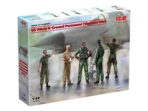 ICM 1/48 US Pilots & Ground Personnel (Vietnam War) 48087