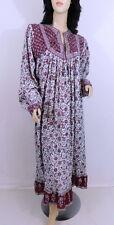 Vintage 1970s 70s India Hippie Princess Festival Flowing Paisley Cotton Dress