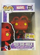 SDCC 2017 FUNKO EXCLUSIVE RED SHE-HULK MARVEL DISNEY LIMITED EDITION SOLD OUT!!