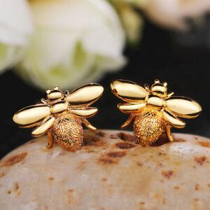 18KGold Plated Drop Earrings Women Charm Emerald Wedding Engagement Jewelry