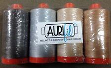 Aurifil NEUTRALS Set of 4 Large Spools 50 Wt 100% Premium Cotton Thread Quilting