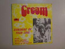 """CREAM: Sunshine Of Your Love +3-Portugal 7"""" 1968 Polydor 60 581 EP Mono PCV"""