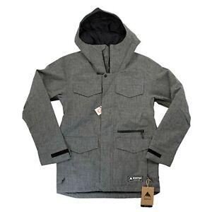 Men's BURTON Covert Insulated Jacket - BOG HEATHER - Snowboard Ski Winter Coat