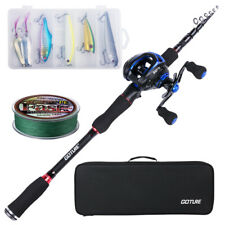 Goture Fishing Rod Combo Casting Rod Medium Baitcasting Reel Travel Lure Rod