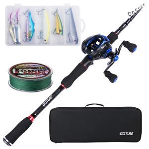 Goture Fishing Rod Combo Casting Rod Medium Baitcasting Reel Travel Lure Rod
