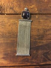 Purple Sparkle Necklace Pendant Long Fringe Dangle Modernist Design