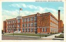 New Philadelphia Ohio Junior High School Street View Antique Postcard K41059