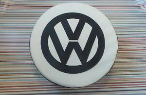 Madmatz Quality Volkswagen VW T2 BAY Window Spare Wheel cover Off White / Black
