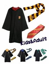 Harry Potter Gryffindor Slytherin Costume Robe Cloak+Scarf+Tie Suit cosplay 2018