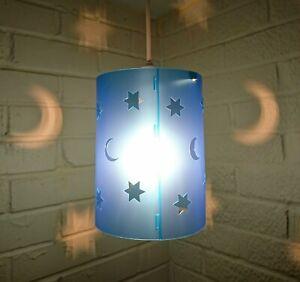 lampshade light shade GIRL BOY star stars BLUE