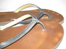 Garnet Hill Italy Flip Flops Leather Sandals Thong size 8