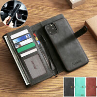 For Google Pixel 4/3 XL Removable Flip Leather Wallet Card Slot Case Stand Cover