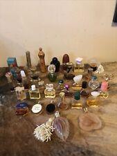 Lot  33 Vintage  Assorted Mini Perfume Parfum Colognes & bottles With Perfumes