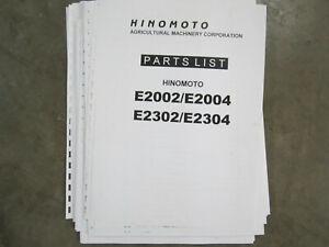 Hinomoto E2002,E2004, E2302, and E2304 Tractor Parts Manual
