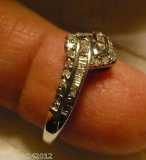Diamond Ring Sz.7 38 diamonds(Rnd & Bag.) .35tcw MSRP$749