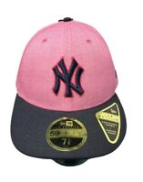 NYC Yankees MLB New Era 59FIFTY 7 7/8 Hat Rare Pink Navy Colorway Fast Ship NEW