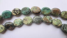 8 x 10mm Oval Natural African Turquoise Gemstone Beads - Half Strand