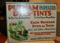 Vintage Putnam Dye Metal/Tin Store Display Countertop Cabinet Advertising