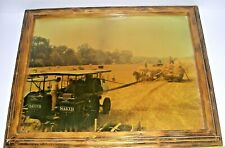 Vintage Baker Farm Agriculture Machinery Haying Framed Laminated Print Ohio
