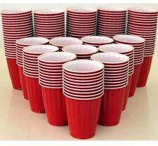 200 American Large 523 ml Red Party Cups Beer Schooner Frat Keg Pong Plastic USA