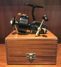 Very Rare Garcia Mitchell 300DL Gold Spinning Reel in Wood Box with Spare Spool