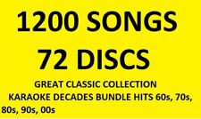 Karaoke Classics 1000 Professional Karaoke Tracks on CDG CD+G 62 Discs *WOW*