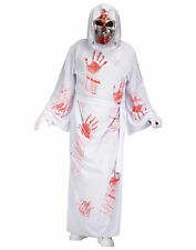 White Bleeding Reaper Death Gothic Horror Adult Mens Halloween Costume