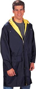 Waterproof Reversible Rain Parka Longer Coat 3/4 Length