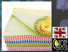 5Pc Microfiber Phone Screen Lens cloths Glasses Cleaner Cleaning UK Seller