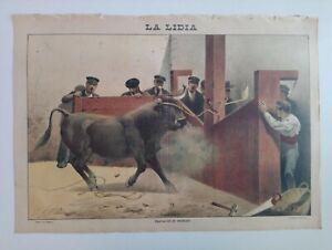 1893 La Lidia Revista Taurina Año XII Número 29 Operación de embolar Toro